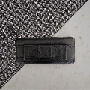 SALE🖤 KATE SPADE Black Leather Bow Wallet